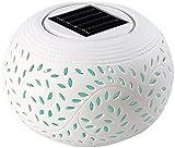 Lunartec Solar-Dekoleuchte aus Porzellan mit Farbwechsler / weißer LED