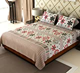 Amethyst Floral Cotton Double Bedsheet w...