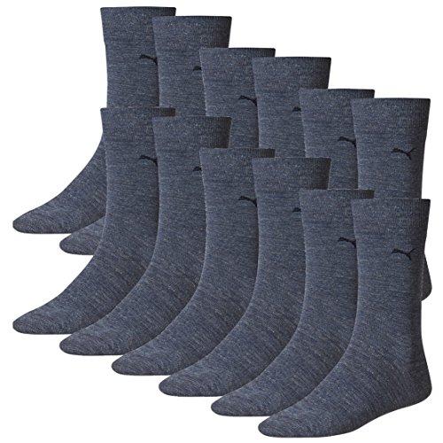 PUMA Herren Classic Casual Business Socken 12er Pack denim blue 460 - 43/46