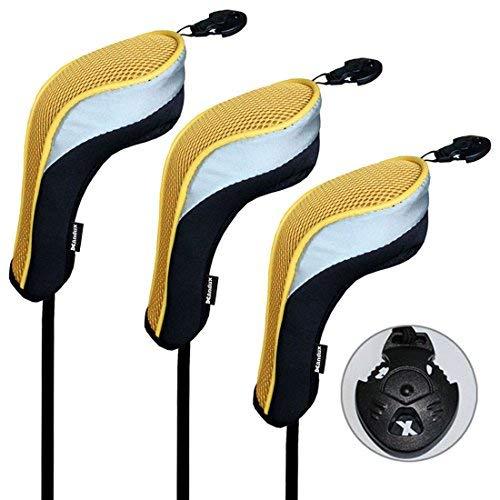 Andux 3/Set Golf Hybrid Club Head Covers mit austauschbaren Keine. Tag 3Stück -