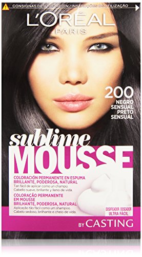 L'Oreal Paris Sublime Mousse Coloración Permanente 200 Negro Sensual - 200 ml