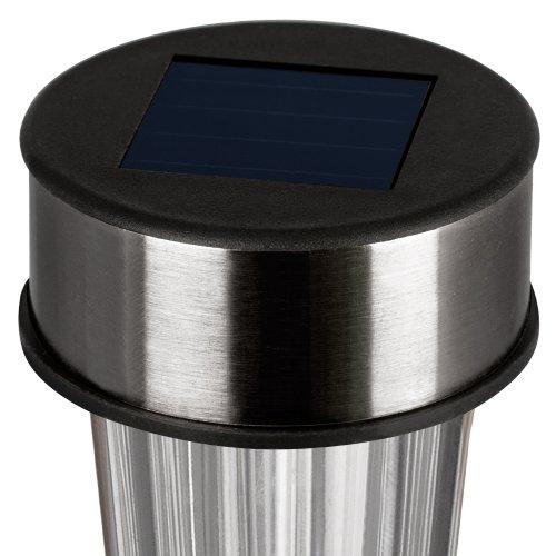 LED Solarleuchte Gartenleuchte Solarlampe aus Edelstahl 16er Set - 2