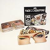 """Unbekannt Bierdeckel """"Face Coasters"""" von Gift Republic, Karton, mehrfarbig, 15,5x3,5x13cm"""