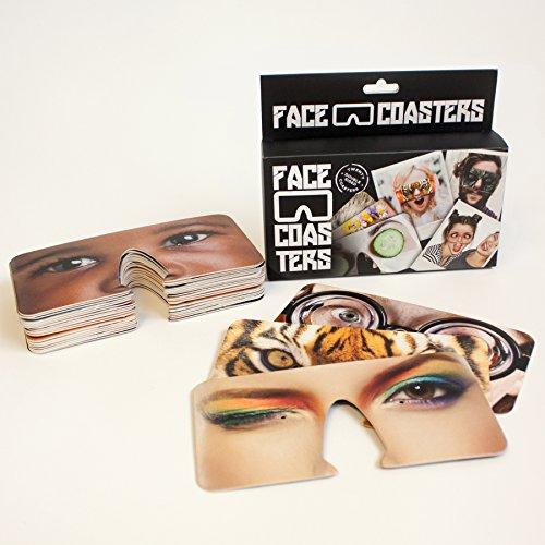 Unbekannt Bierdeckel ?Face Coasters? von Gift Republic, Karton, Mehrfarbig, 15,5x3,5x13cm