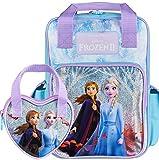Disney® Zaino ufficiale Frozen 2 per ragazze con Elsa e Anna e borsetta coordinata, regalo per ragazze, borsa da viaggio per la scuola, borsa da viaggio e borsetta per ragazze