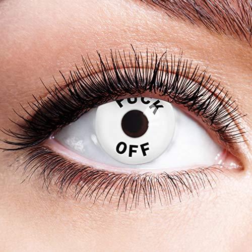 Farbige Kontaktlinsen Motivlinsen Ohne Stärke mit Motiv Fun Linsen für Halloween Karneval Party...