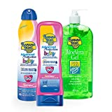 Banana Boat PACK Baby Protection - Crema Solare per Bambini SPF 50, 180ml + Spray Solare per Bambini SPF 50, 220ml + Gel Aloe Vera After Sun, 453ml