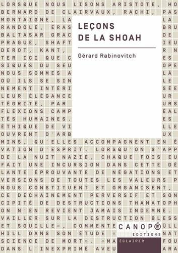 Leçons de la Shoah par Gérard Rabinovitch