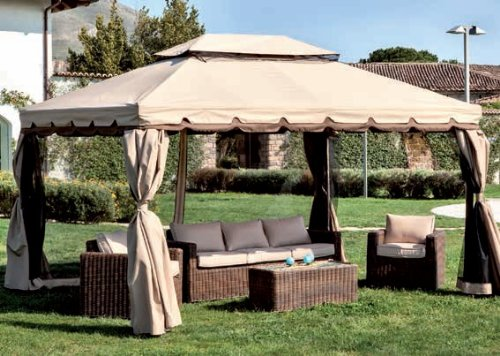 Ricambio top superiore per gazebo adventure 3x4 ecru' impermeabile