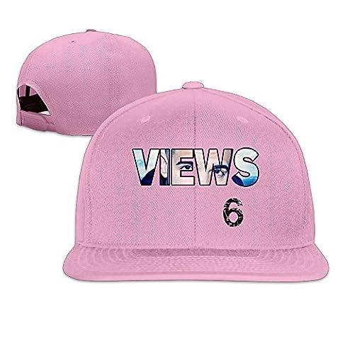 Feruch Custom Unisex-Adult Views 6 Logo Adjustable Summer Hats Caps Ash Pink