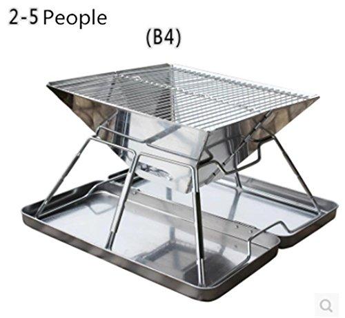 HomJo Barbacoa grill Parrilla de barbacoa de barbacoa de carbón de leña...