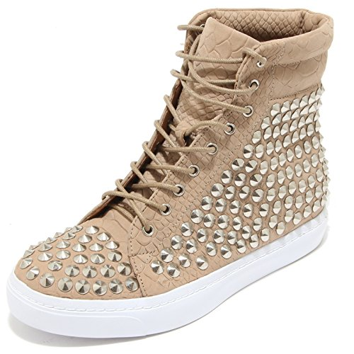 3340I sneakers donna JEFFREY CAMPBELL alva hi st croco calf scarpe shoes women Beige