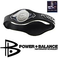 Power Balance Braccialetto in silicone nero M 19 cm Sport