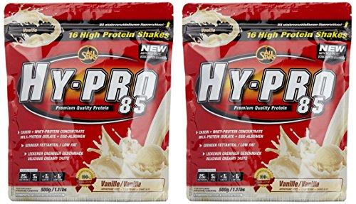 All stars Hy-Pro 85 Beutel Doppelpack (2 x 500 g) Vanille, 1er Pack (1 x 1 kg) (Vanille Egg Protein)