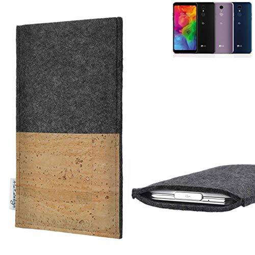 flat.design vegane Handy Hülle Evora für LG Electronics Q7 Alfa Kartenfach Kork Schutz Tasche handgemacht fair vegan