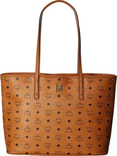 MCM Damen Top Zip Shopper Anya Medium Cognac