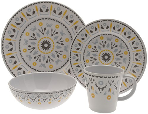 OLPro Whitebourne Melamine Set (Pack of 16) - Off-White