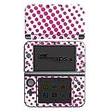 Skin kompatibel mit Nintendo New 3DS XL Aufkleber Sticker Folie Punkte Pink White