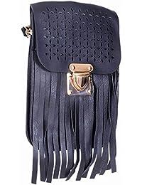 Ratash Cut Work With Stripe Cut Sling Bag Black (Hbd_25_26_27_13)