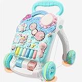 BABIFIS Baby Walker, Trolley per Bambini, Hand Push Multi-Funzione Anti-Rollover Baby Learning Walking Cart 0–2Anni (Colore: Verde Menta)