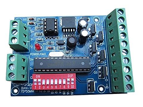 DMX 512 Decoder 6 Channel 4A/CH Controller Stage Lighting Controller DJ Lighting CMOS Output