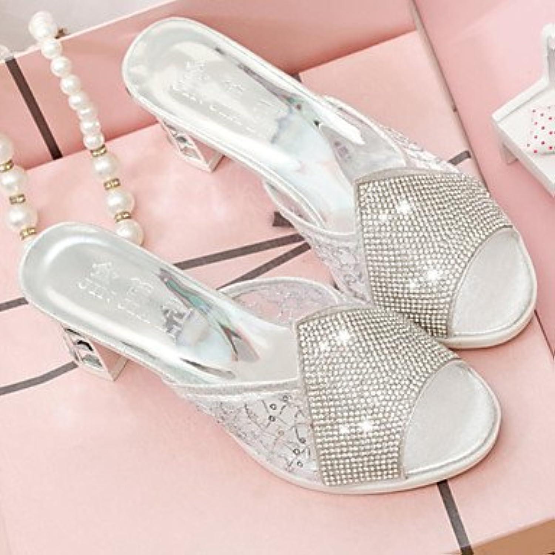 Zapatillas de mujer &Amp; Comodidad Flip-Flops PU Primavera Verano vestimenta casual Confort Chunky talón Oro...