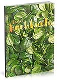 Dékokind Leeres Kochbuch: Für über 80 Lieblingsrezepte || Ca. A5 Softcover || Rezeptbuch zum Selbstgestalten / Selberschreiben mit Inhaltsverzeichnis || Motiv: Grüner Salat