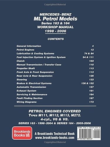Mercedes-Benz ML Petrol Models Series 163 & 164 Workshop Manual 1998-2006: Workshop Manual (Owners Workshop Manual)