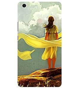 Chiraiyaa Designer Printed Premium Back Cover Case for Xiaomi Mi Max (Girl women painting) (Multicolor)