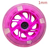 Techting 2pcs 120mm Flash LED Light Up Roue pour Mini Scooter Micro avec 2 ABEC-7 roulements