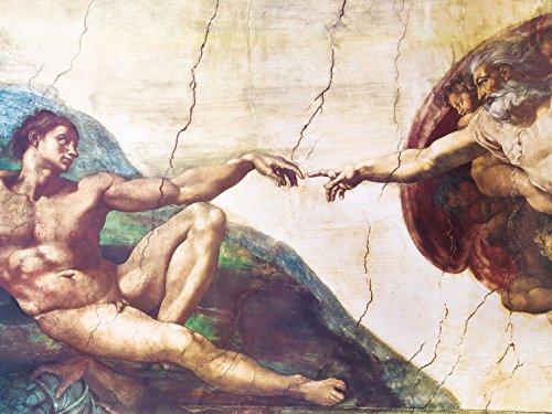 1art1 88629 Michelangelo Buonarroti - Die Erschaffung Adams, 1508-1512 Poster Kunstdruck 80 x 60 cm