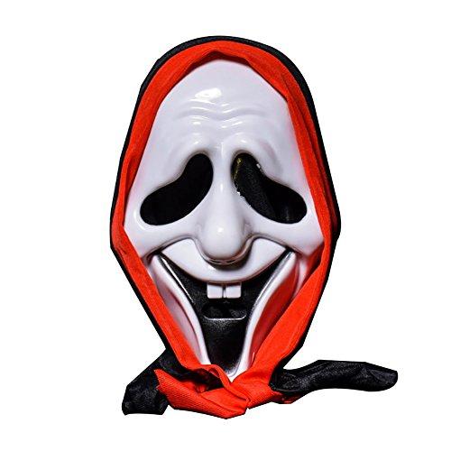 hädel Maske Bar Dance Horror Scary Soul Props Dämon Teufel Lächeln Türgeister New ()