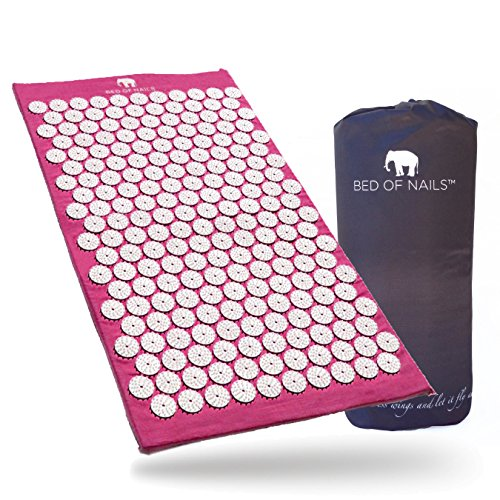 Bed of Nails, Pink Original Acupressure Mat for Back/Body Pain Treatment, Relaxation, Mindfulness by Bed of Nails