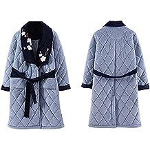 Pijamas Robe para Mujer Albornoz Toalla De Baño Lujo Super Largo Y Suave Franela Coral Fleece