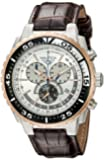 Nautica Men's Nst 700 N14680G Brown Leather Quartz Watch with Silver Dial