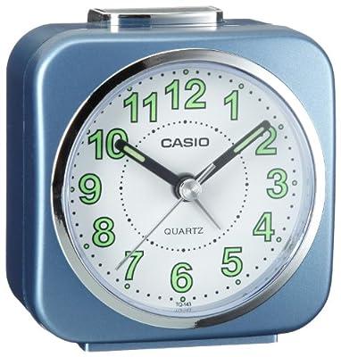 Casio TQ-143-2EF - Reloj despertador (analógico, cuarzo, alarma repetitiva y microlámpara)