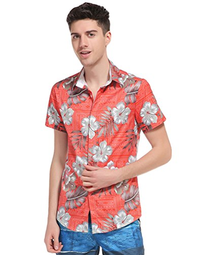 Baymate-Verano-Camisa-Hawaiana-Hombre-Manga-Corta-Casual-Vacaciones-Camiseta-Tops