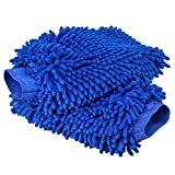 Ultimate Car Wash Mitt - 2 PACK Extra Large Size 10.4oz Heavy and Thick - 100% Waterproof Lining Anti-scratch Premium Chenille Microfiber Wash Sponge for Car SUV Truck