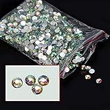 Joyeee 1000 Pieza Nail Art Glitter 3D Pedrería para Uñas Decoración de Arte de Uñas de Diamantes Brillantes