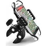 Handyhalterung Fahrrad Motorrad Univesal Fahrradhalterung Handy | Kopfhörereingang Kabelanschluß Zugängig für GPS Handy Iphone 7/ 6 /6S /6 plus / 5s Samsung Galaxy s6
