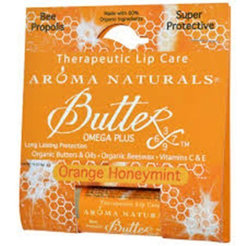 Aroma Naturals Therapeutic Lip Care, Orange Honey Mint, 0.15 Ounce by Andalou Naturals (English Manual)