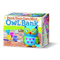 Great Gizmos 404699 Paint Your Own Mini Owl Bank