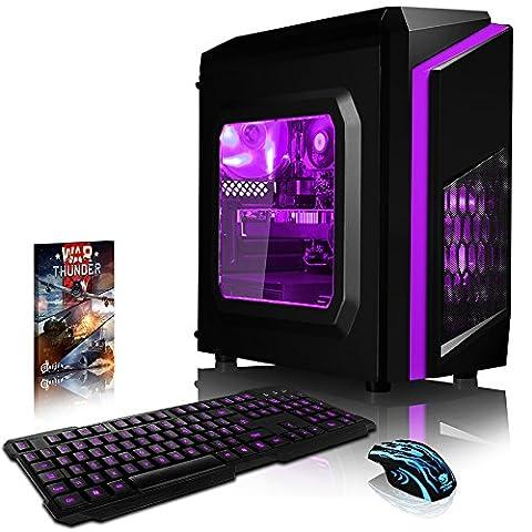 VIBOX Pyro RL980-91 Gaming PC - 4,2GHz AMD FX 8-Core CPU, RX-580 GPU, VR Ready, Hochleistung, leistungsstärker, Spec, Desktop Gamer Computer mit Spielgutschein, Violett Innenbeleuchtung, lebenslange Garantie* (4,0GHz (4,2GHz Turbo) Superschneller AMD FX 8350 Octa 8-Core Prozessor CPU, AMD Radeon RX 580 4GB Grafikkarte, 8GB DDR3 1600MHz RAM, 1TB (1000GB) SATA III HDD 7200rpm Festplatte, Aerocool 600W 85+ Netzteil, CIT F3 Violett Gaming Geh§use, AM3+ Mainboard, Ohne Windows Betriebssystem)