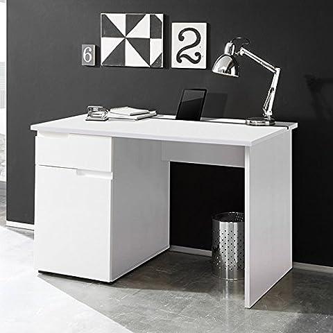 Schreibtisch weiß hochglanz B 120 cm PC Computertisch Kinderschreibtisch Jugendschreibtisch Bürotisch Jugendzimmer