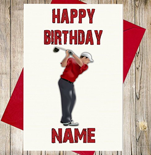golf-player-personalisierbar-premium-elfenbeinfarben-geburtstagskarte