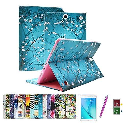 AYASHO® Housse Samsung Tab A T550 - Slim-Fit Case Étui Housse Coque Cover Stand - Protection complète de l'appareil pour Samsung Galaxy Tab A T550 Tablette tactile 9,7