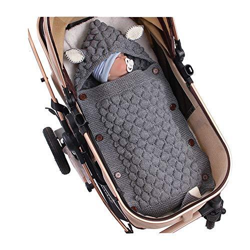 Puseky Manta bebé recién Nacido Manta Punto Crochet