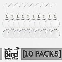 Aspectek–Bird repellente dischi confezione da 10–Sensational Repeller di controllo Woodpeckers, piccioni e altri parassiti. Deterrente, funziona con rete, Nastro, Punte, scarecrows o Decoy gufo. Scare Uccelli Away garantito al 100% - Disco Eye