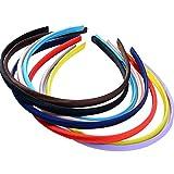 MagiDeal 8 Stücke 8 Farben Kunststoff DIY Haarreif Haarband Stirnband Haarschmuck 10mm