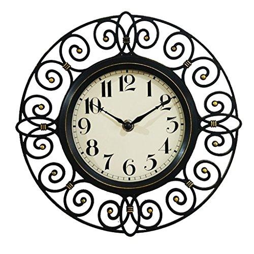 Orologi da parete orologio da parete muto in ferro battuto imitazione da 10 pollici retro orologio da tavolo in stile europeo retrò da salotto in stile europeo